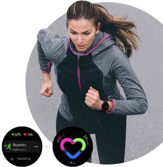 Samsung galaxy Watch active 2 hardloopster